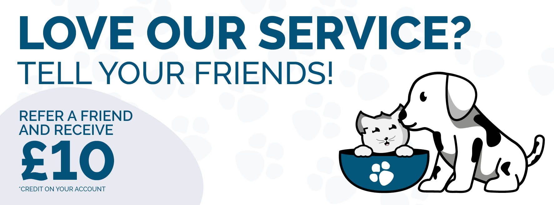 Love our service? Tell your friends!